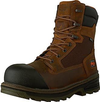 Timberland PRO Mens 8-Inch Resistor WP CSA Work Boot, Brown Full-Grain Leather, 7.5 W US