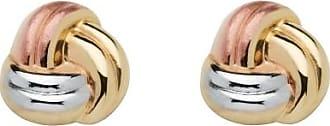 PalmBeach Jewelry Love Knot Earrings in Tri-Tone 10k Gold