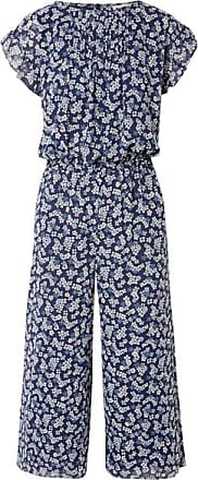 Michael Kors Pleated Floral-print Georgette Jumpsuit - Navy b125b7e6c3