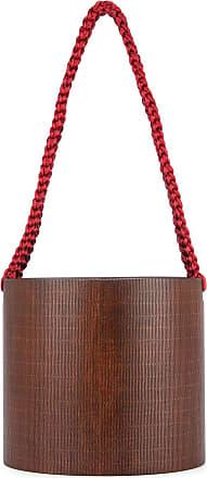 0711 Bali oval bucket bag - Brown