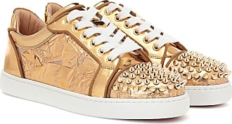 7f19bbb2977 Christian Louboutin Vieira Spikes embellished leather sneakers