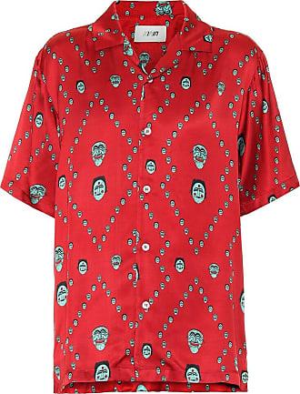 Kirin Printed satin bowling shirt