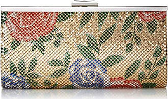 Jessica McClintock Laura Floral Mesh Framed Clutch, Gold Print