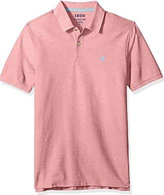 09236d13 Izod Mens Regular Fit Advantage Performance Short Sleeve Solid Polo,  Rapture Rose, XX-
