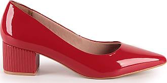 Di Valentini Scarpin Hebe 483-04542 Verniz Vermelho Vermelho - 37