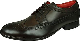 Base London Bailey Burnished Mens Lace Up Brogues 11/45 Brown