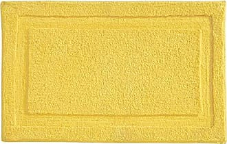 InterDesign Spa Microfiber Polyester Bath Mat, Non-Slip Shower Accent Rug for Master, Guest, and Kids Bathroom, 34 x 21, Yellow