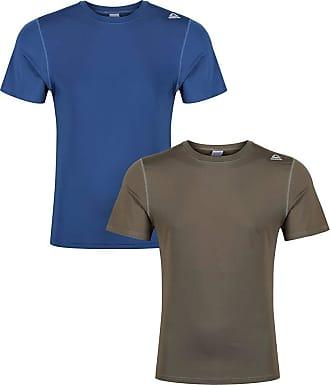 bb0f306b6 Reebok Mens Mens Simon 2 Pack Sports T-Shirts in Blue Green - L