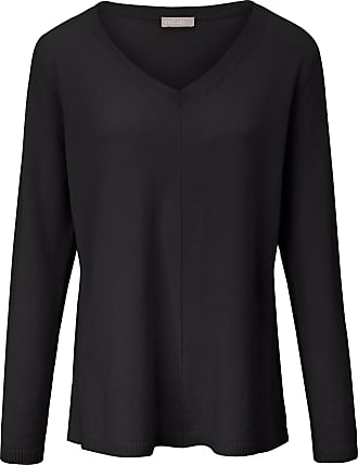 include V-neck jumper in pure cashmere include black