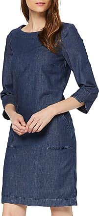 Comma Womens 8s.995.82.4825 Dress, Blue (Blue Denim Stretch 54z7), 8 (Size: 34)