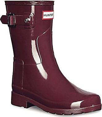 3fcb9db2601774 Hunter Damen Original Refined Short Gloss Winter Schnee Regen Stiefel EU  36-43