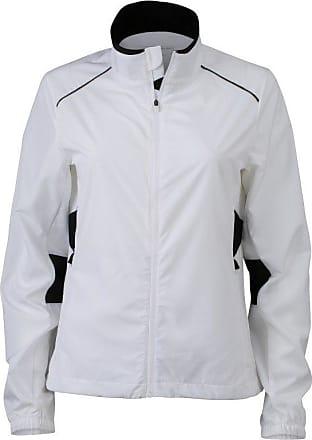 James & Nicholson Womens JN475 Performance Running Jacket White/Black XXL