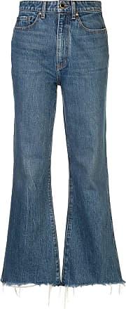 Khaite Calça jeans cropped Gabbie - Azul