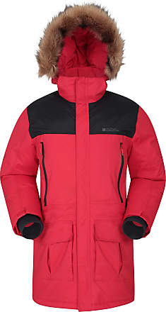 Ideal in Winter Hem /& Cuffs Adjustable Hood Warm Jacket Mountain Warehouse Snow Mens Jacket Water Resistant Raincoat