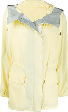 Yves Salomon - Army colour block hooded rain coat - Yellow
