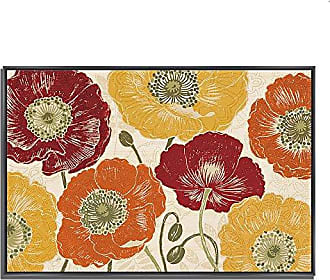 Tangletown Fine Art A Poppys Touch I Spice by Daphne Brissonnet Gallery Wrap Canvas Red/Yellow/Orange