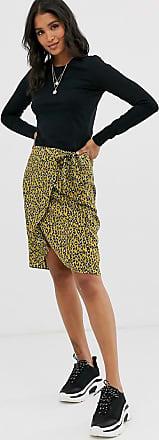 Vila – Leopardmönstrad kjol i satin