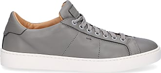Santoni Low-Top Sneakers 60151 smooth leather grey