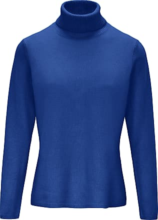 include Roll-neck jumper in pure new wool and cashmere include blue