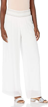 AGB Womens Plus Size Wide Leg Crop Pull-on Pants