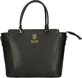 Chicca Borse Aren - Woman Handbag in Genuine Leather Made in Italy - 30x21x14 Cm