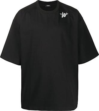 We11done Camiseta oversized com logo - Preto