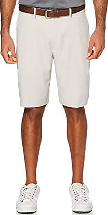 PGA TOUR Short de golf extensible à devant plat pour homme, Silver Cloud, 30