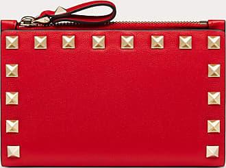 Valentino Garavani Valentino Garavani Rockstud Calfskin Coin Purse And Cardholder Women Rouge Pur 100% Pelle Di Vitello - Bos Taurus OneSize
