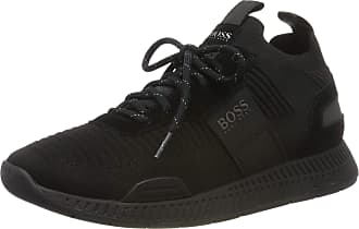 BOSS Mens Titanium_Runn_knst Low-Top Sneakers, Black (Black 001), 6 UK