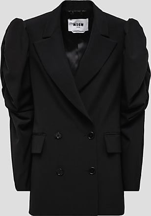 Msgm double-breasted jacket with gigot sleeves