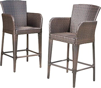 BEST SELLING HOME Outdoor Best Selling Home Anaya Wicker Patio Bar Stools - Set of 2 - 298899