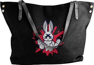 Juju Bad Rabbit Womens Classic Shoulder Portable Big Tote Handbag Work Canvas Bags