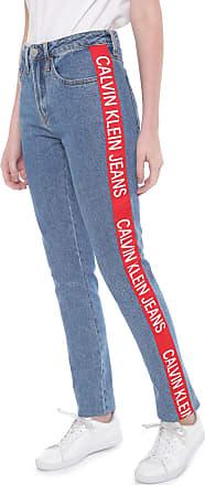 Calvin Klein Jeans Calça Jeans Calvin Klein Jeans Slim Faixas Laterais Azul