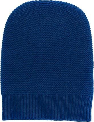 N.Peal Gorro de cashmere canelado - Azul