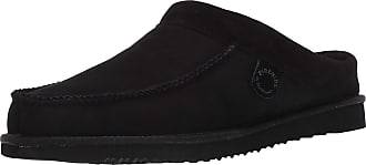 Dearfoams Mens Griffith Slipper, Black, 14 Wide