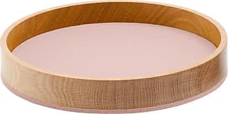 Hey-Sign Bowl Holzschale M - Filz puderrosa/Filz in 5mm Stärke/H 4.5cm / Ø 26.5cm/Eiche massiv geölt