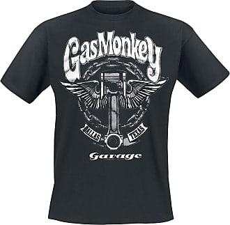 Gas Monkey Garage Big Piston Men T-Shirt Black 5XL, 100% Cotton, Regular