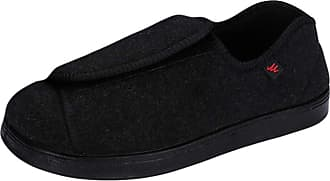 Insun Unisex Extra Wide Shoes for Edema Orthopaedic Fasciitis Black 4 9.5 UK Wide Women/9.5 UK Wide Men