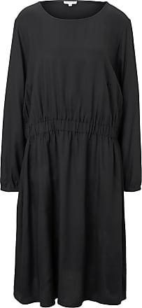 Tom Tailor Kleid mit elastischer Taille, Damen, Deep Black, Größe: 54