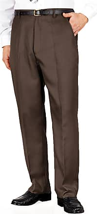 Chums Mens Quality Formal Smart Casual Work Trousers Home/Office, Brown, Size 36W x 27L