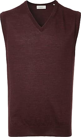 Cerruti sleeveless fitted sweater - Red