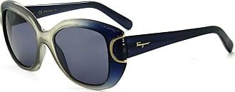 Salvatore Ferragamo SF819S 463 54 - Cinza-Azul Translúcido/Azul