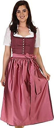 664a2fc72c Turi Landhaus mode Damen Dirndl lang Baumwolle Dirndl festlich D821066  Britta Burgund Gr.34