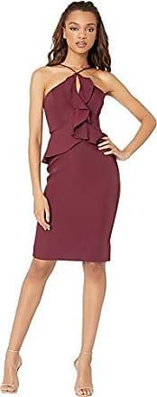 Bcbgmaxazria BCBGMax Azria Womens Sleeveless Halter Peplum Dress, Venetian Rose, 2