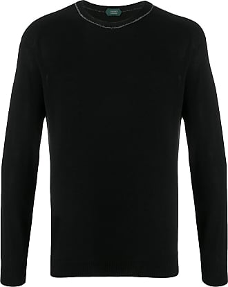 Zanone crew-neck knit jumper - Black
