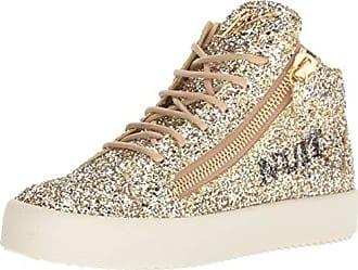 Giuseppe Zanotti Womens RW80057 Sneaker, Argold, 8 B US