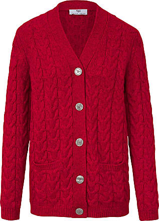 Peter Hahn Knitted jacket in 100% new milled wool Peter Hahn red