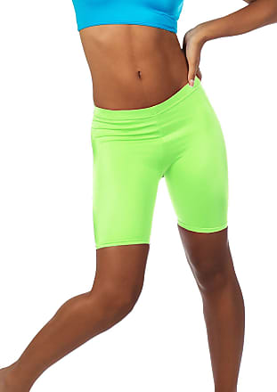 The Celebrity Fashion Womens Active Bike Gym Workout Cycling Shorts Running Casual Sport Leggings Neon Green