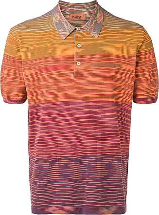 Missoni Camisa polo listrada de tricô - Laranja