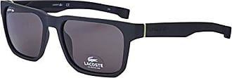 Lacoste Mens L877s Plastic Magnetic Square Sunglasses, Matte Black, 55 mm